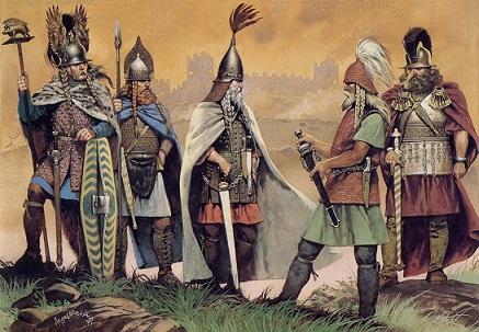 Vestimenta de los guerreros celtas