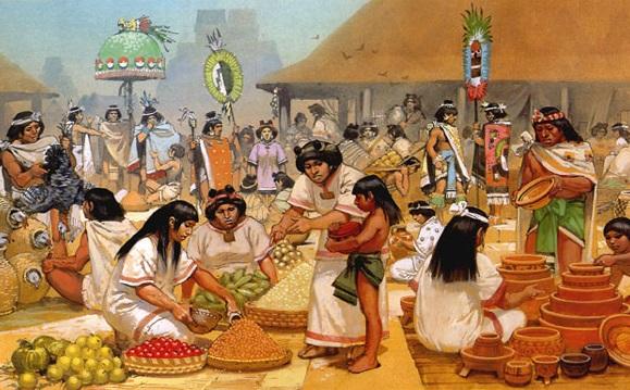 Aztecas econom a socialhizo for Casas de la epoca actual