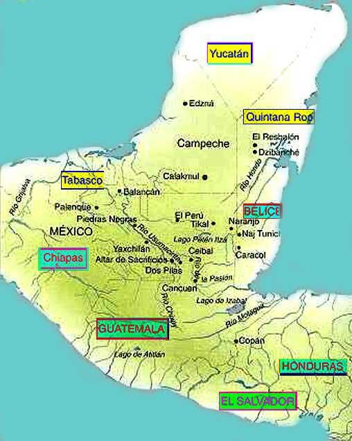 Mayas ubicaci n geogr fica socialhizo for Cultura maya ubicacion