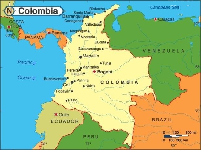 Mapa De Colombia Ciudades.Fundacion De Las Primeras Ciudades En Colombia Socialhizo