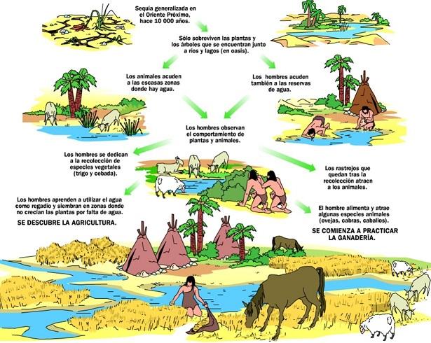 Resultado de imagen de En el neolítico con la aparición de la agricultura y la ganadería, apareció la primera economía