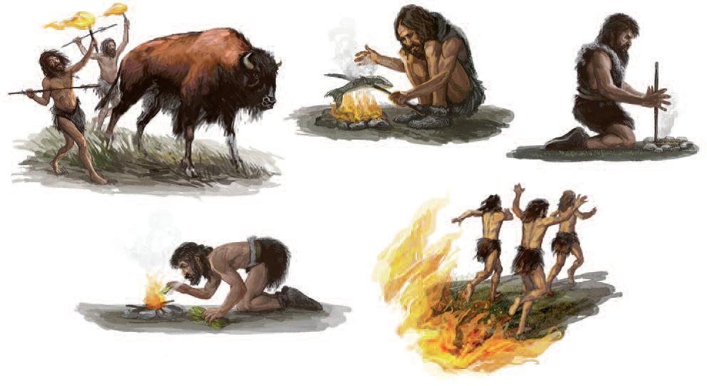 хоть картинки древнего человека огонь и вода его попеременном